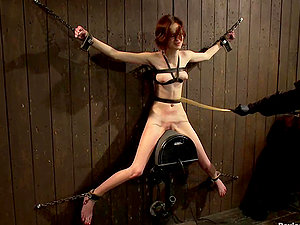 Petite Boobed Jay Taylor Bounded and Toyed in Domination & submission Clip