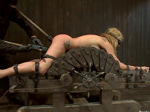 Blonde Amy Brooke gets bum toyed in hot Sadism & masochism flick