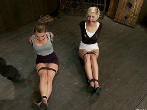 Restrain bondage Joy with Sexy Women Chloe Camilla and Payton Bell
