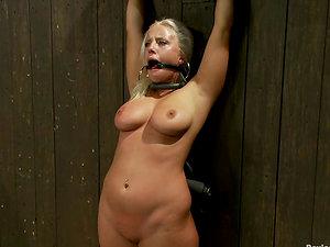 Nip Torment for Big Jugged Blonde Kait Snow in Bondage & discipline Vid