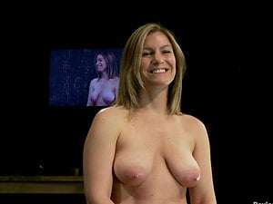 Lovely Blonde with Nice Natural Boobies Toyed in Restrain bondage Session