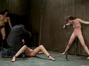 Girl/girl Bondage & discipline Activity with Beautiful Restrain bondage Honies Frolicking