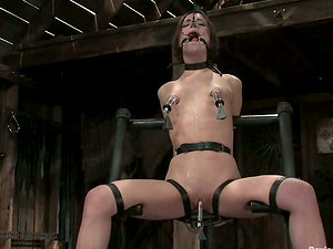 Amber Rayne and Cherry Ripped in the greatest Sadism & masochism act