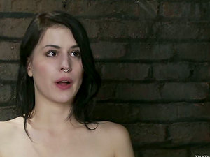 Katherine Cane gets her vag toyed while being tied up