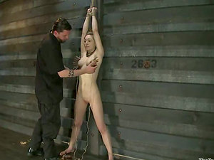 Clothespinned Lily LaBeau gets tied up and toyed