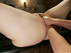 James Deen makes two femmes knuckle each other's vags in Domination & submission vid