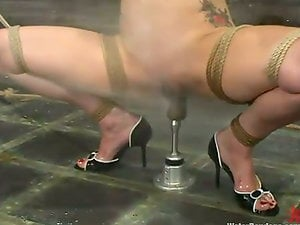 Pinky Lee rails big faux-cock under the jet of water