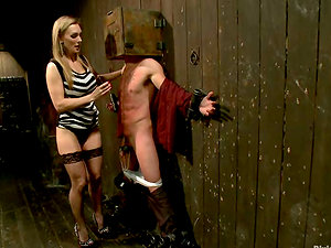 Restrain bondage and Female dominance Vid with Tanya Tate Getting a Fellow Fucked by Machine