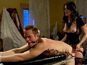 Bobbi Starr Gives Man Torment and Face Sitting in Pegging Female domination Flick