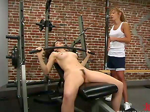 Janay gets whipped and fucked by lewd blonde mom Karina Ballerina