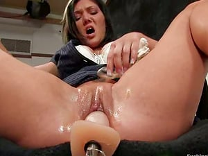 Big Boobed Claire Dames Getting Drilled by Machine