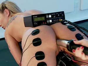 Electro Torment and Playing in Lesbina Female dom for Bailey Blue