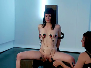 Skinny Milky chick Katherine Cane Tormented with Electric current