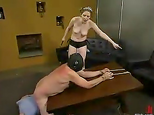 Spanking and Face Sitting by Princess Kali to Her Bang-out Marionette
