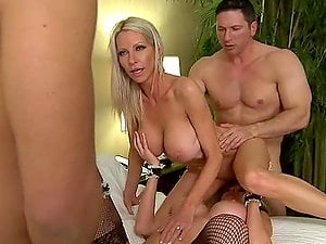 Two Insatiable Blondes Get in a Soiree of Four