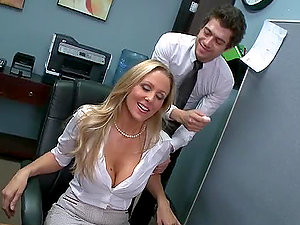 Office Stimulations With Mature Ultra-cutie