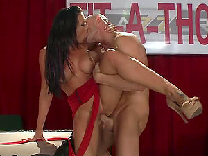 Hot Bum Brown-haired With Big Tits Fucking In High Stilettos
