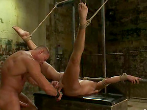 A magnificent queer gets tormented and mouth-fucked in a basement