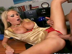 Nikki Benz gets her snatch slurped and fucked in an office