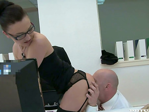 Filthy Angelique Duval is railing a massive one