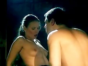 Big-titted Brown-haired Cockslut Getting Her Vagina and Caboose Fucked