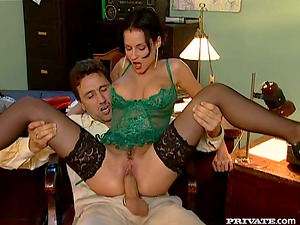 Michelle Wild blows and gets fucked in all positions in an office