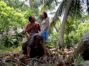 Luisa De Marco luvs getting her mouth and snatch fucked in the jungle