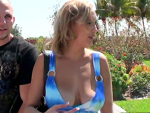 Outdoor fetish bang-out with a big-boobed blondie Raeleen Ryder