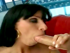 Slender black-haired with big melons gets bum fucked