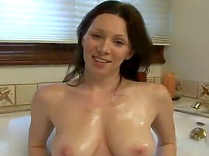 Slender RayVeness takes a bath and then rails a dick