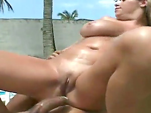 Filthy Brazilian female is loving the size of her man